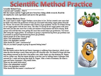 Scientific Method Practice Veggie Tale Part 1