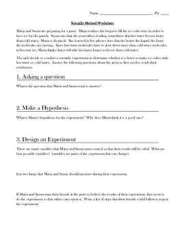 Scientific Method Practice Teaching Resources Teachers Pay Teachers