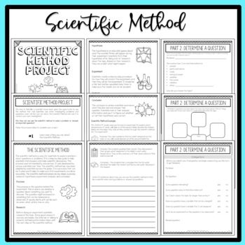 scientific method project based learning 4th 5th 6th scaffolded