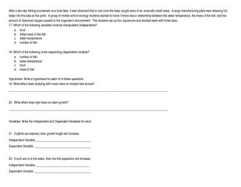 Scientific Method Quiz