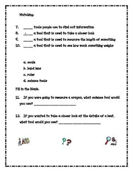 Scientific Method Quiz/Test/Assessment