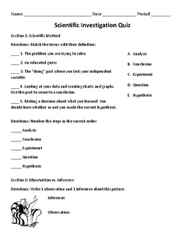 photograph regarding Printable Scientific Method Quiz known as Medical Solution Quiz and Resolution Mystery
