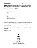 Scientific Method Quiz - companion to the Scientific Method Foldable!