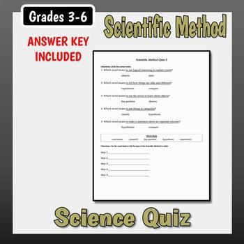 Scientific Method Quizzes