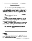 Scientific Method - Read & Respond Packet