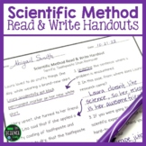 Scientific Method Read and Write Handouts