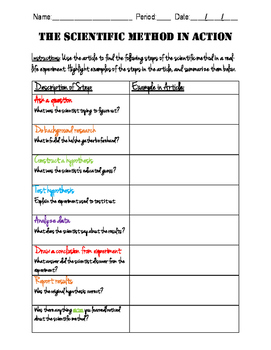 Scientific Method Reading Guide