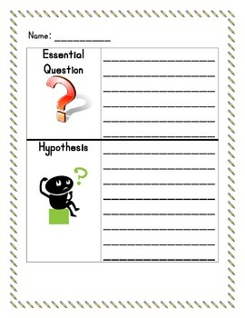 Scientific Method Recording Sheet