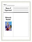Scientific Method Recording Sheet