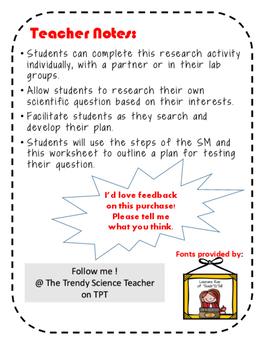 Scientific Method Research Worksheet