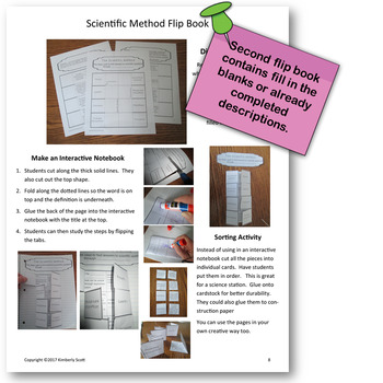 Scientific Method Review:  Differentiated Interactive Notebooks