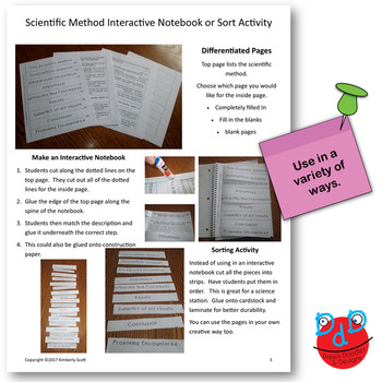 Scientific Method Interactive Notebooks