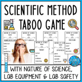 Scientific Method Review Taboo Game w/ Lab Equipment and Safety w/ Card Template