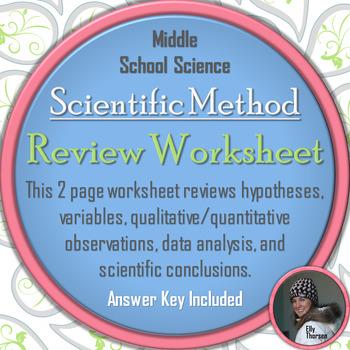scientific method review worksheet by elly thorsen tpt. Black Bedroom Furniture Sets. Home Design Ideas