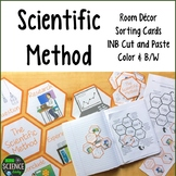 Scientific Method: Room Decor, Card Sort, Word Wall, INB: Honeycomb