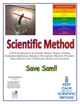 "Scientific Method:  SAVING SAM THE GUMMY WORM!  Kids say, ""So much FUN!"""