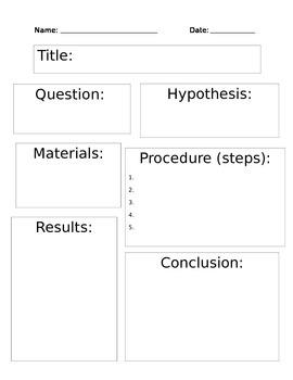 Scientific Method - SIMPLE