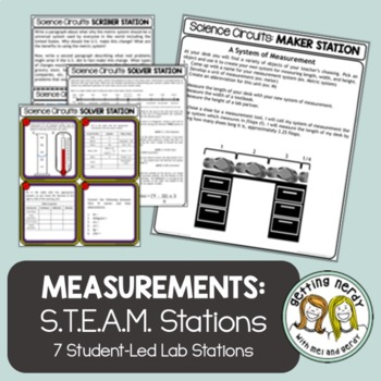 Scientific Method - Science Centers / Lab Stations - Measurement & Metric System