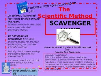 Scientific Method Scavenger Hunt