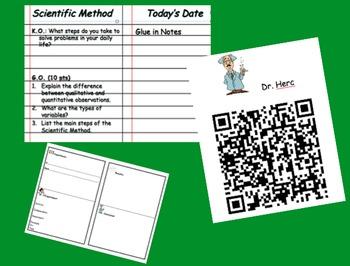 Scientific Method Scavenger Hunt with QR Codes