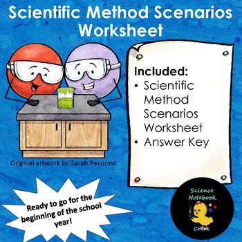 Scientific Method Scenarios Worksheet