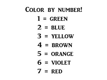 COLOR BY NUMBER - SCIENCE