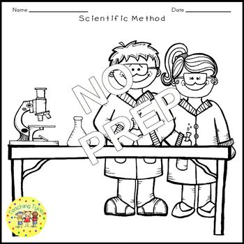 Scientific Method Science Crossword Puzzle Coloring Worksheet Middle School
