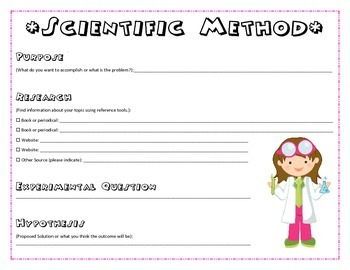 Scientific Method: Science Project Sheet for Students