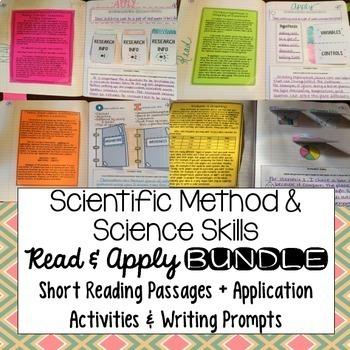 Scientific method interactive notebook reading comprehension bundle ibookread ePUb