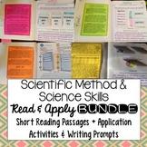Scientific Method Interactive Notebook Reading Comprehension BUNDLE