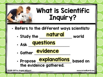 Scientific Method / Scientific Inquiry Notes and PowerPoint Lesson