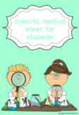 Scientific Method Sheet for students
