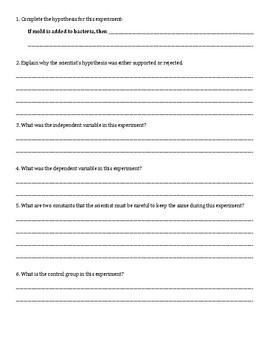 Scientific Method Short Answers