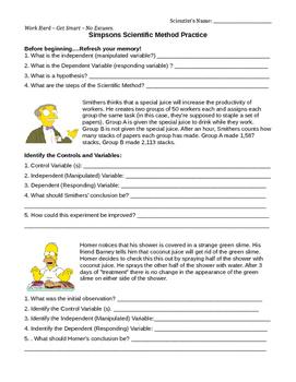 Scientific Method Simpsons Practice