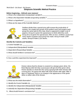 Simpsons Variable Worksheets & Teaching Resources | TpT