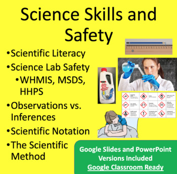 Scientific Method, Skills and Safety  - Google Slides and PowerPoint Lesson