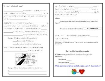 Scientific Method - Skills of Science - Interactive Notebook