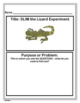 Scientific Method - Slim the Lizard Experiment