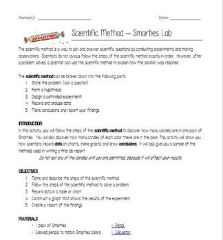 Scientific Method Smarties Lab