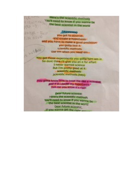 Scientific Method Song Project- in PACE Groups