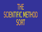Scientific Method Sort