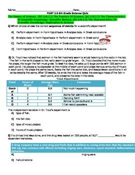 Scientific Method Standardized Based Assessment- The Natur
