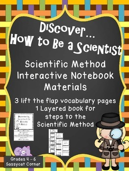 Scientific Method - Steps and Vocabulary Interactive Notebook Flap Books