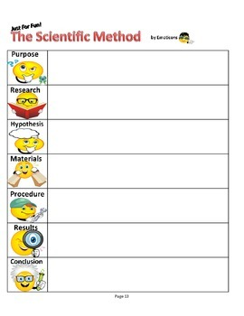 Scientific Method Story, Song, & Worksheet