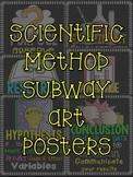 FREEBIE Scientific Method Subway Art Posters Grades 4-6 FREE