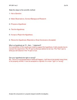 Scientific Method TN Chemistry Standard SPI 3221 Inq 2