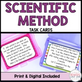 Scientific Method Task Cards Digital Included for Distance