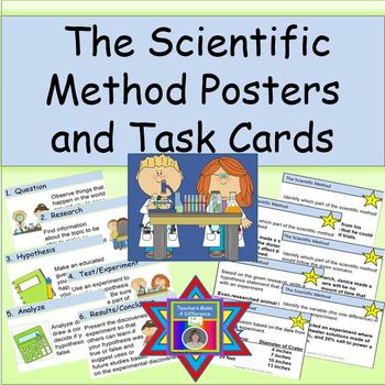 Scientific Method Task Cards and Posters