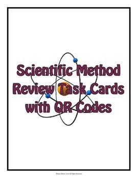 Scientific Method Task Cards with QR Codes