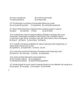 Scientific Method Test